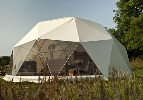 A photo of the glamping dome.